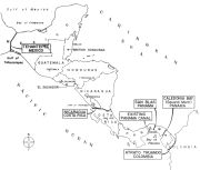 Central America showing canal locations