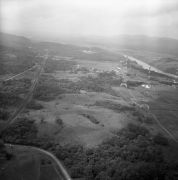 Aerial view of  Panama Canal Zone
