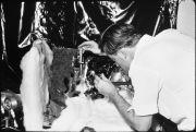 Walt Heilengbirg working at the laboratory