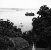 View from BCI to Gatun lake and Slothia island