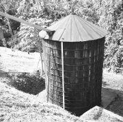 BCI silo- like cistern near kitchen
